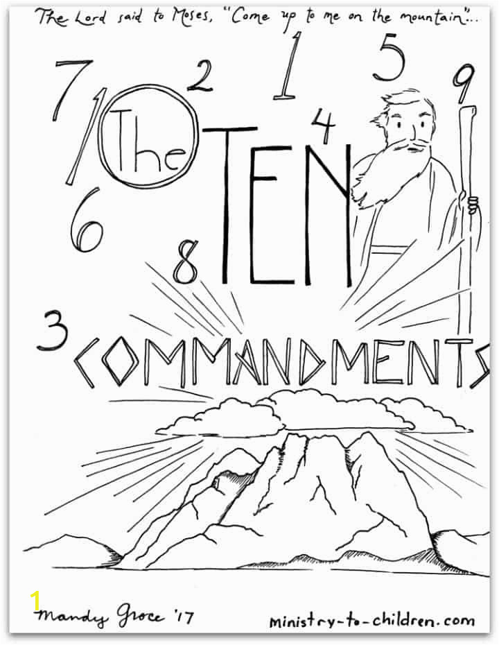 Free Bible Coloring Pages Ten Commandments 10 Mandments Coloring Book [free Printable Pdf] Pages