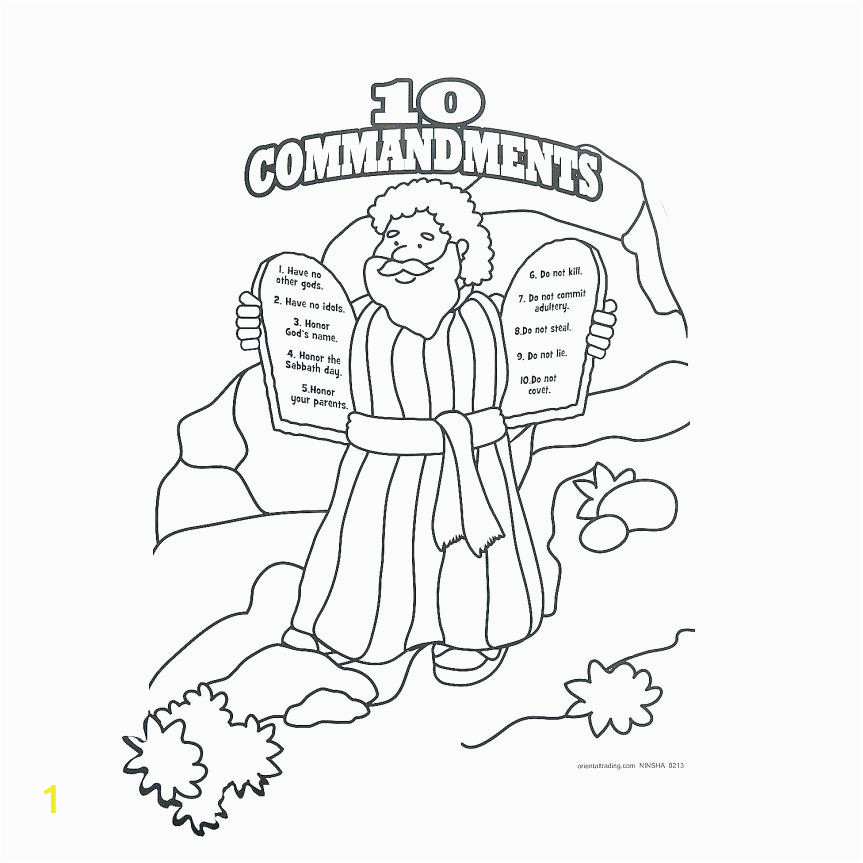 moses ten mandments coloring pages