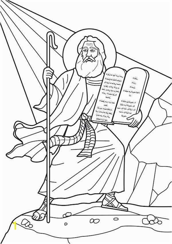 Free Bible Coloring Pages Ten Commandments Ten Mandments Moses at Mount Sinai Receives the Ten