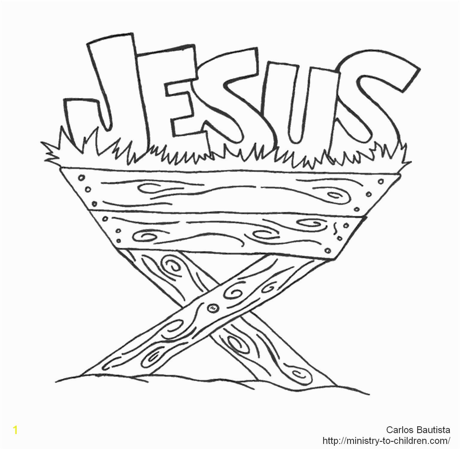 baby jesus in manger drawing