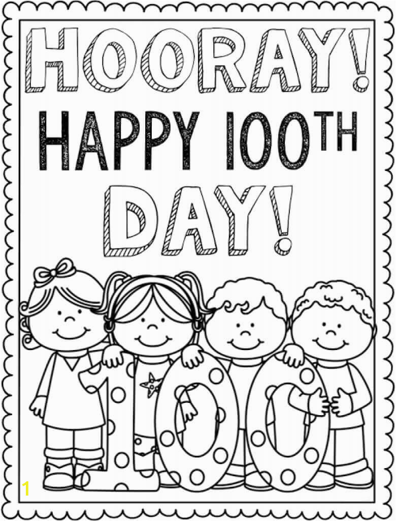 Free Coloring Pages for 100th Day Of School Free Printable 100 Days School Coloring Pages – Scribblefun