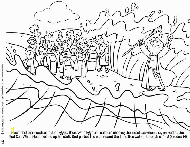 Free Coloring Pages Of Moses and the Red Sea Moses and the Red Sea Free Coloring Page