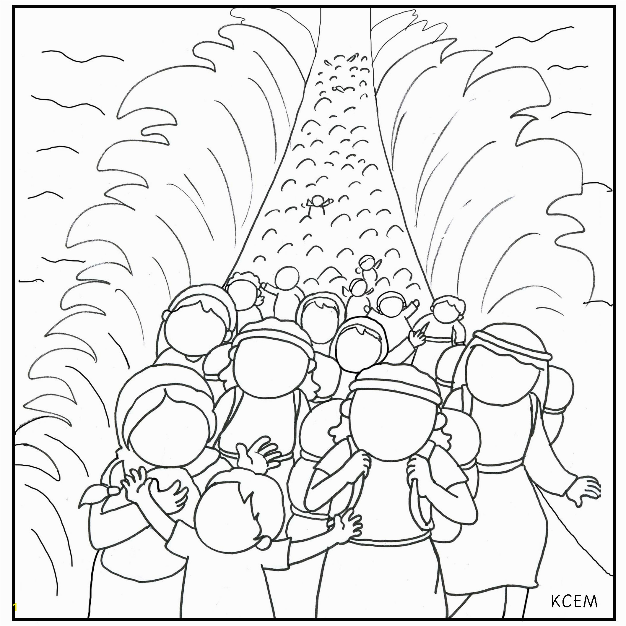 moses parting the red sea coloring page