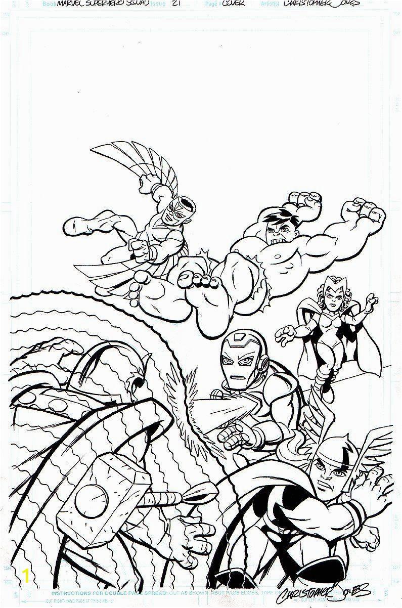 marvel super hero squad az coloring pages