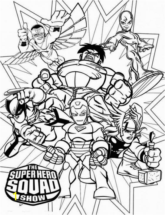 Free Coloring Pages Super Hero Squad Super Hero Squad Coloring Page
