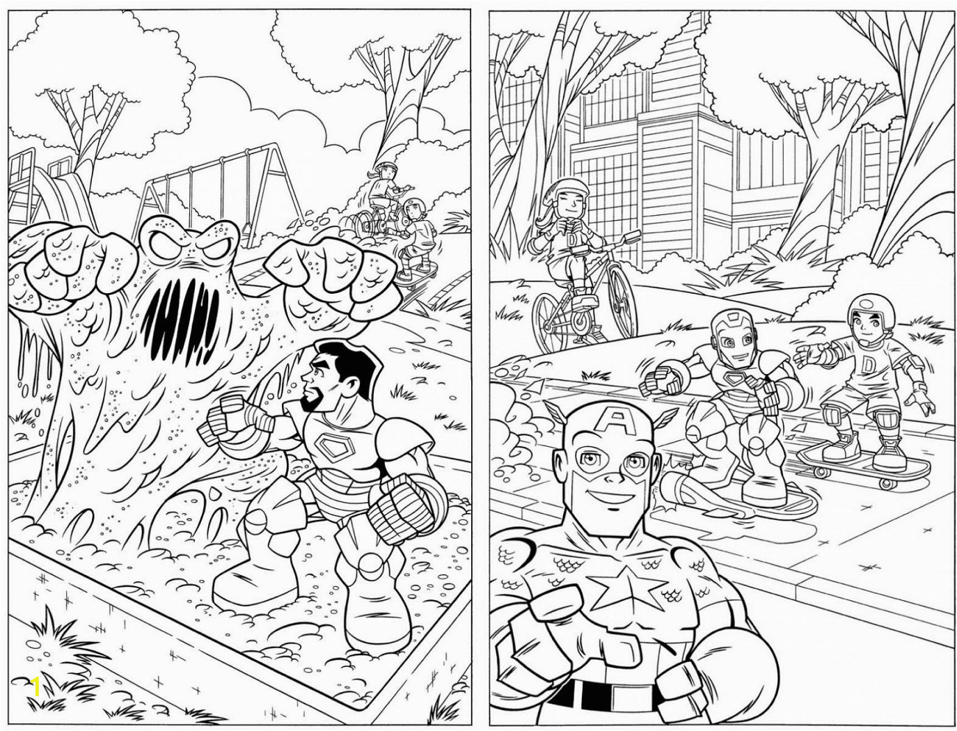 super hero squad show coloring lesson kids coloring page