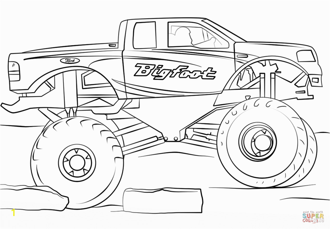 Free Monster Truck Coloring Pages to Print Get This Bigfoot Monster Truck Coloring Page