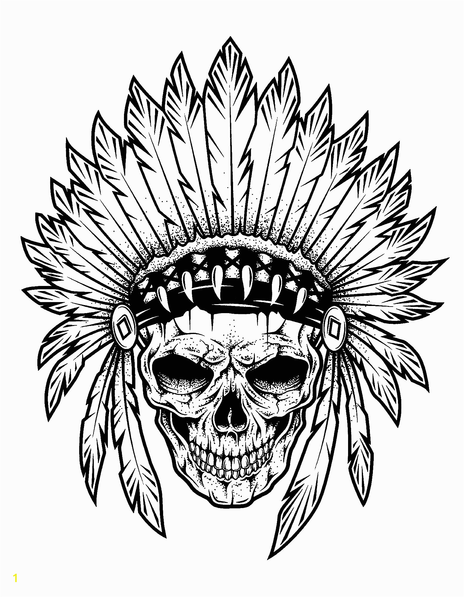 image=indians Coloring pages for children JustColor kids indians 1