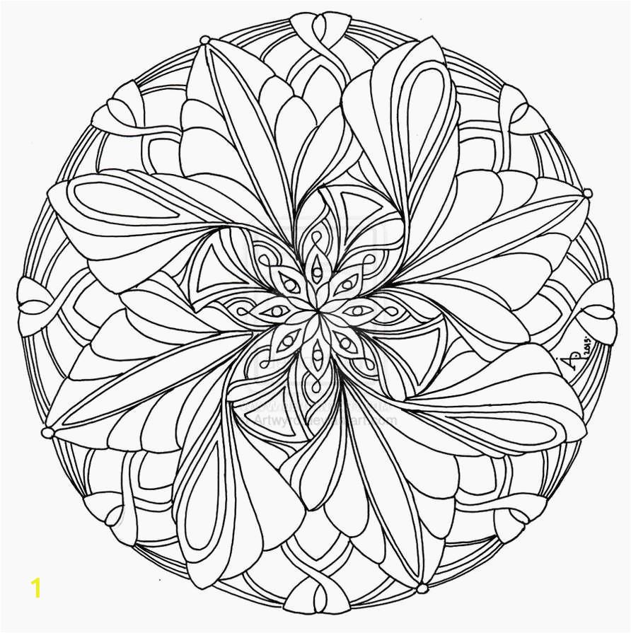 advanced mandala coloring pages printable