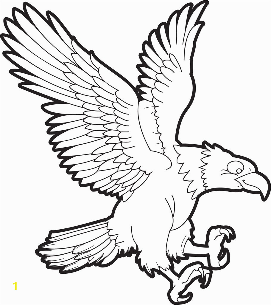 bald eagle coloring page 1 a4527