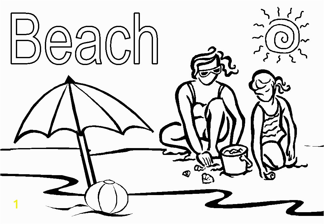 Free Printable Beach Scene Coloring Pages Beach Coloring Pages Beach Scenes & Activities