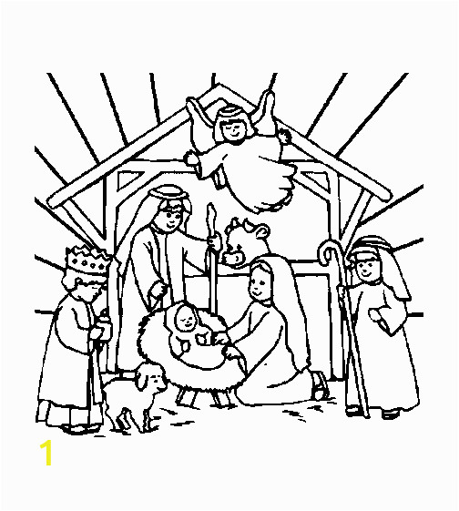 christmas bibel coloring pages 8
