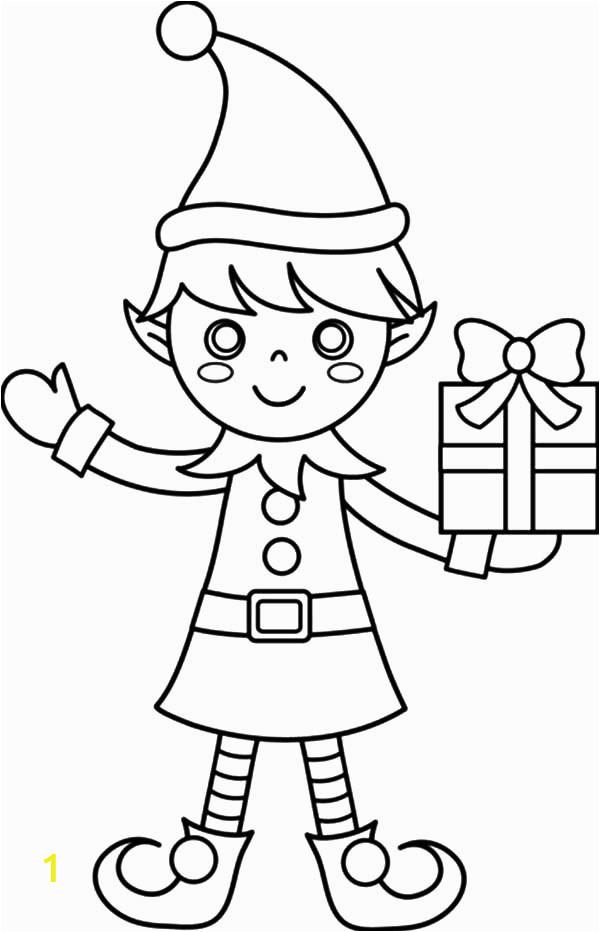 christmas elf drawing