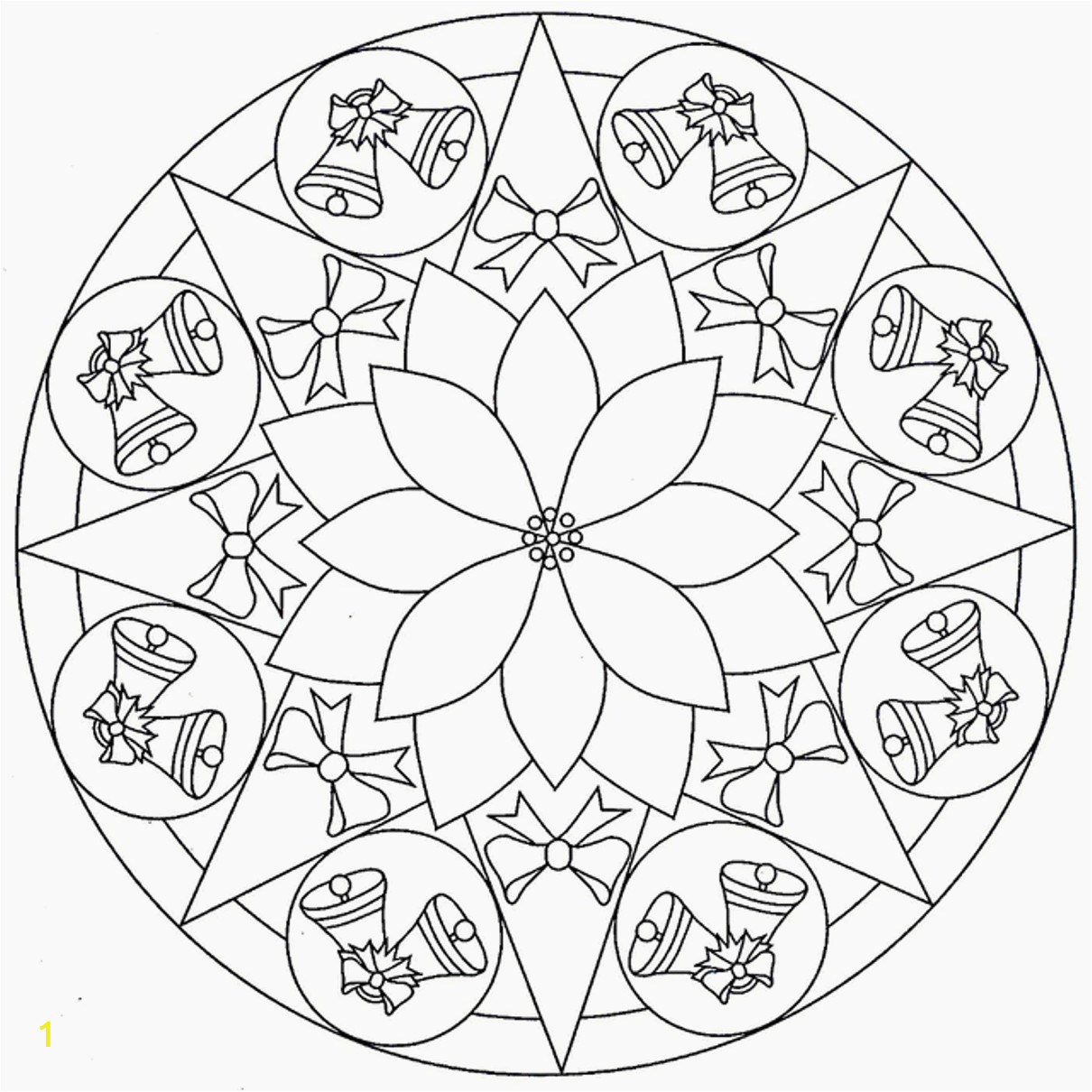 Free Printable Christmas Mandala Coloring Pages Christmas Mandala Coloring Pages to and Print for