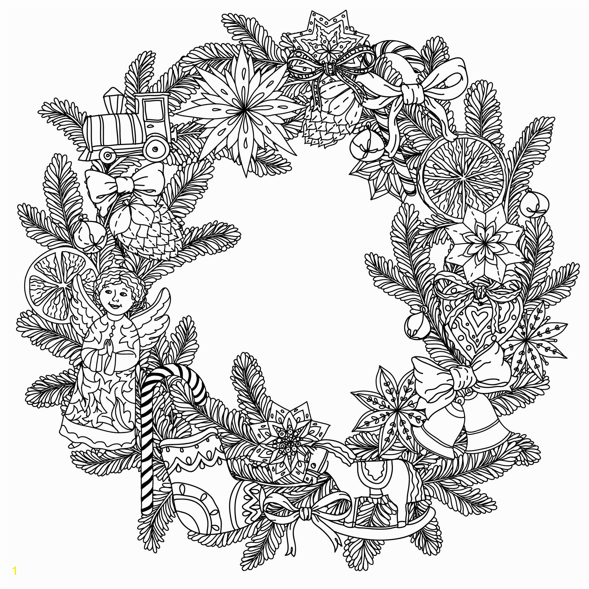 christmas zentangle coloring pages