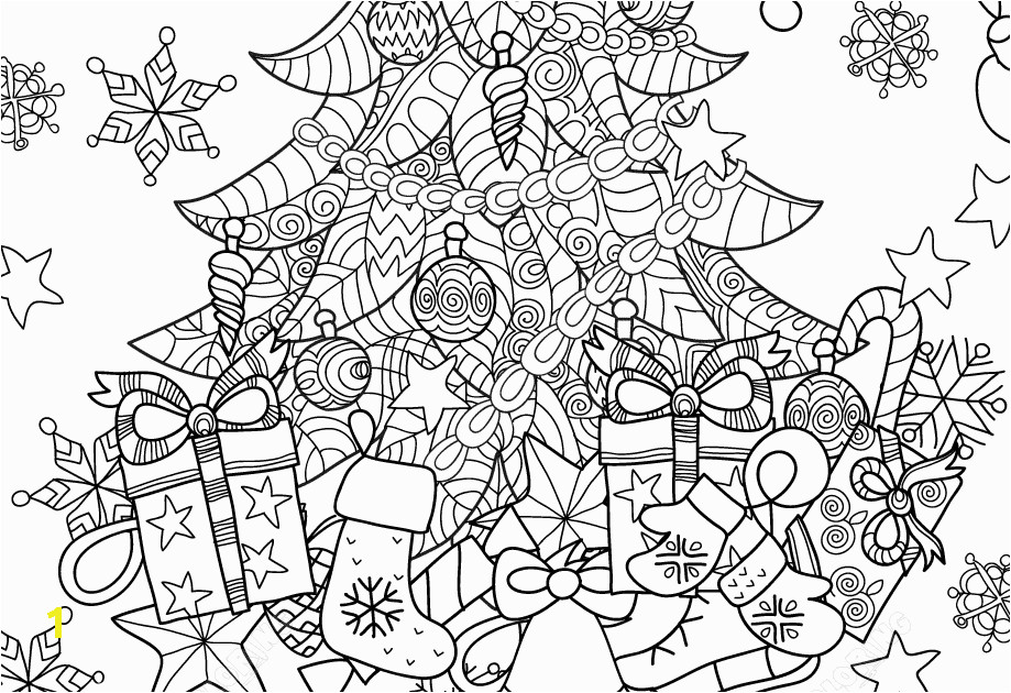 christmas tree zentangle coloring page