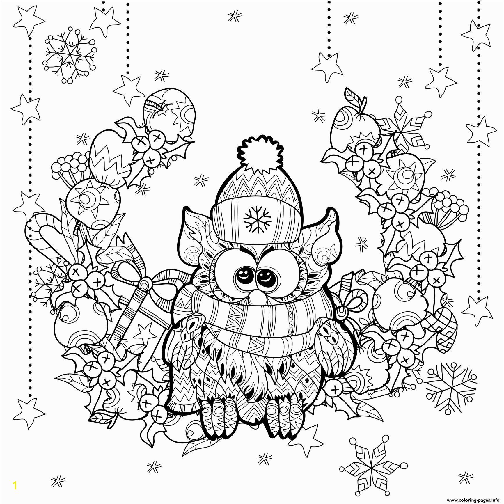 zentangle christmas owl by irina yazeva printable coloring pages book