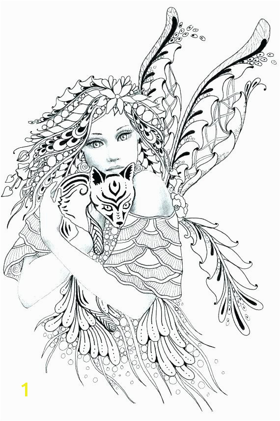 intricate fairy coloring pages
