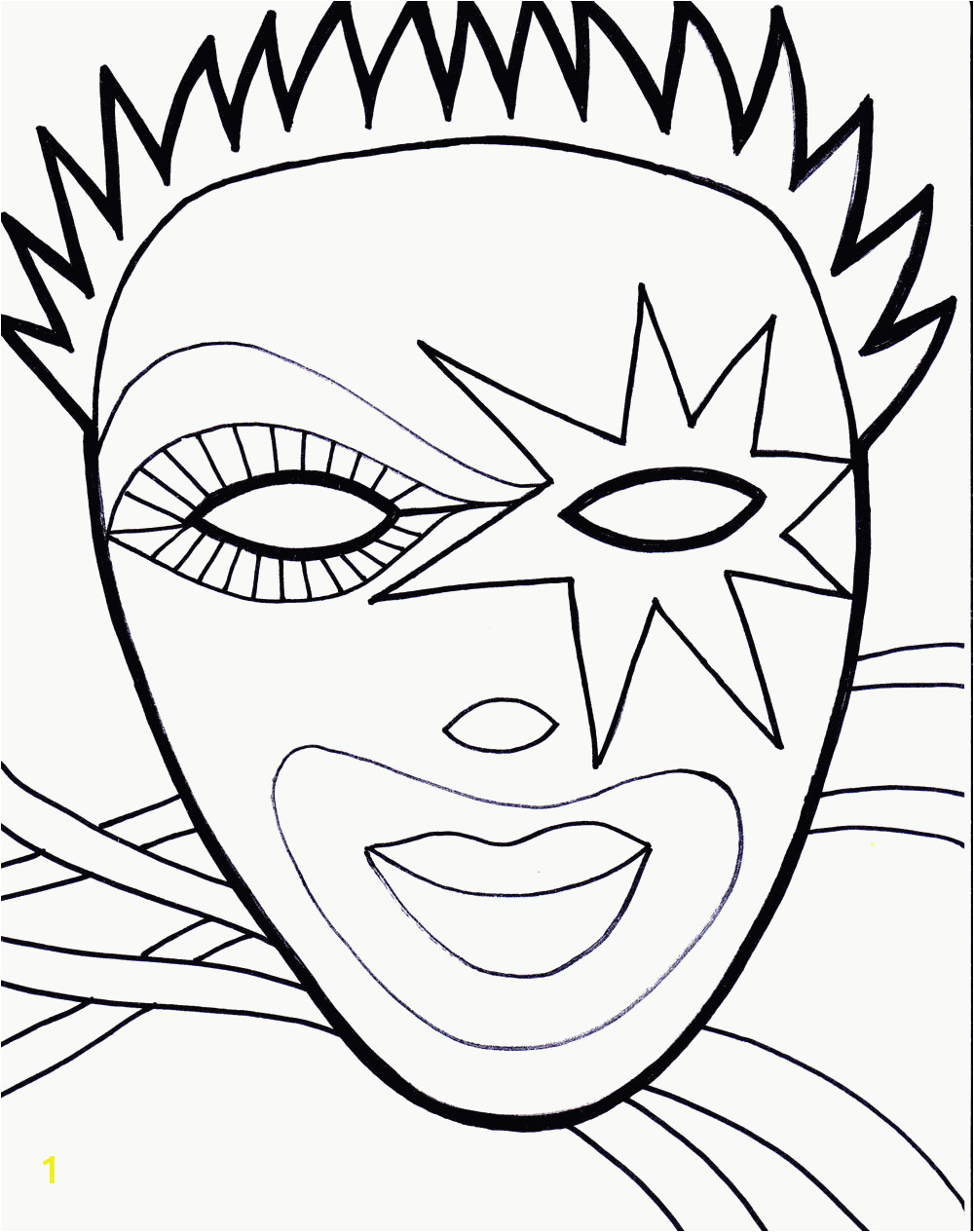 mardi gras coloring pages free printable