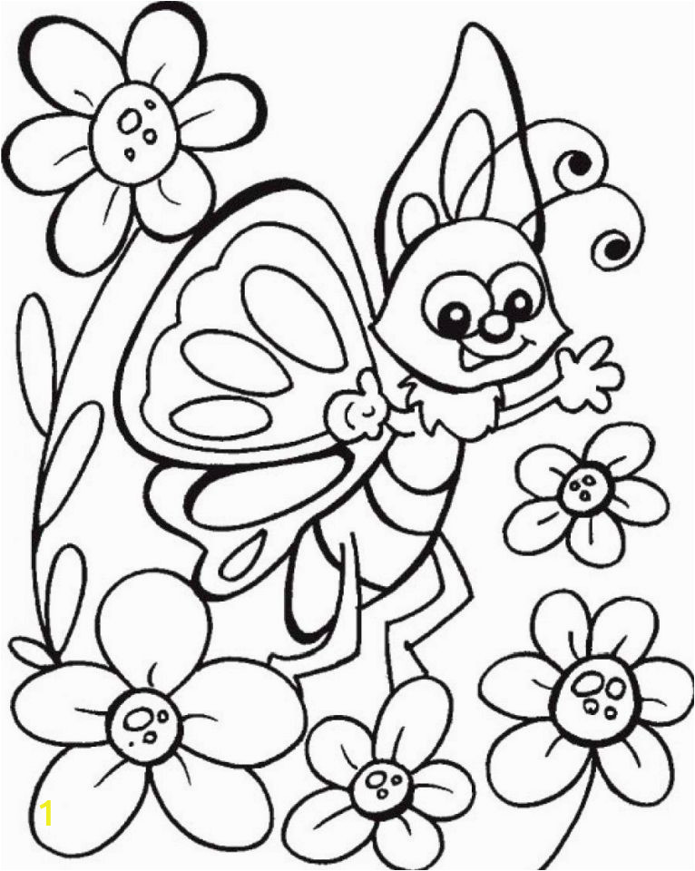 butterfly on flower coloring pages y6q7d