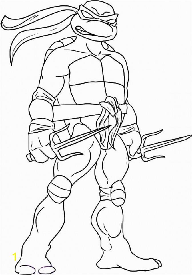 ninja turtle coloring page free printable