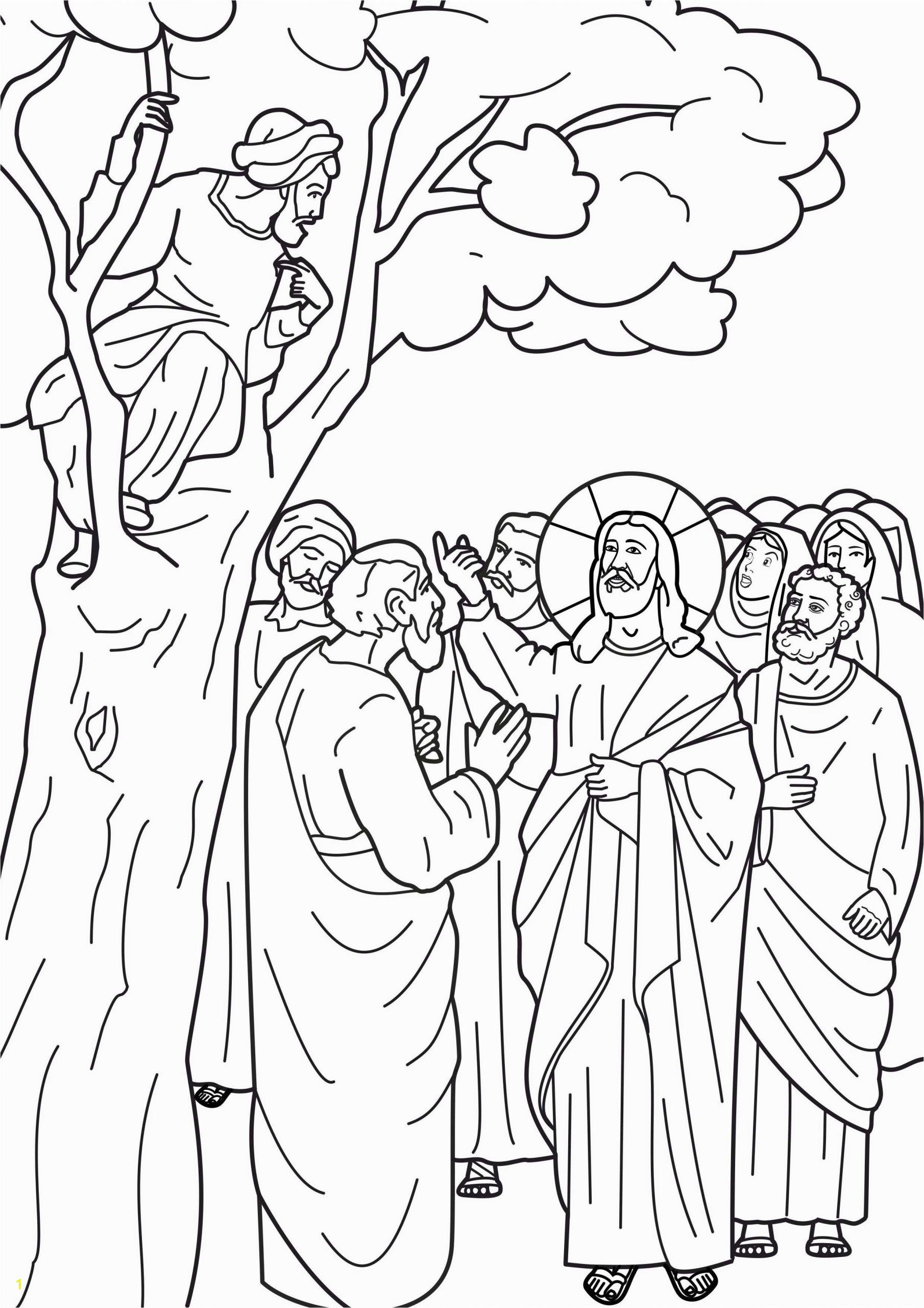 zacchaeus coloring page printable