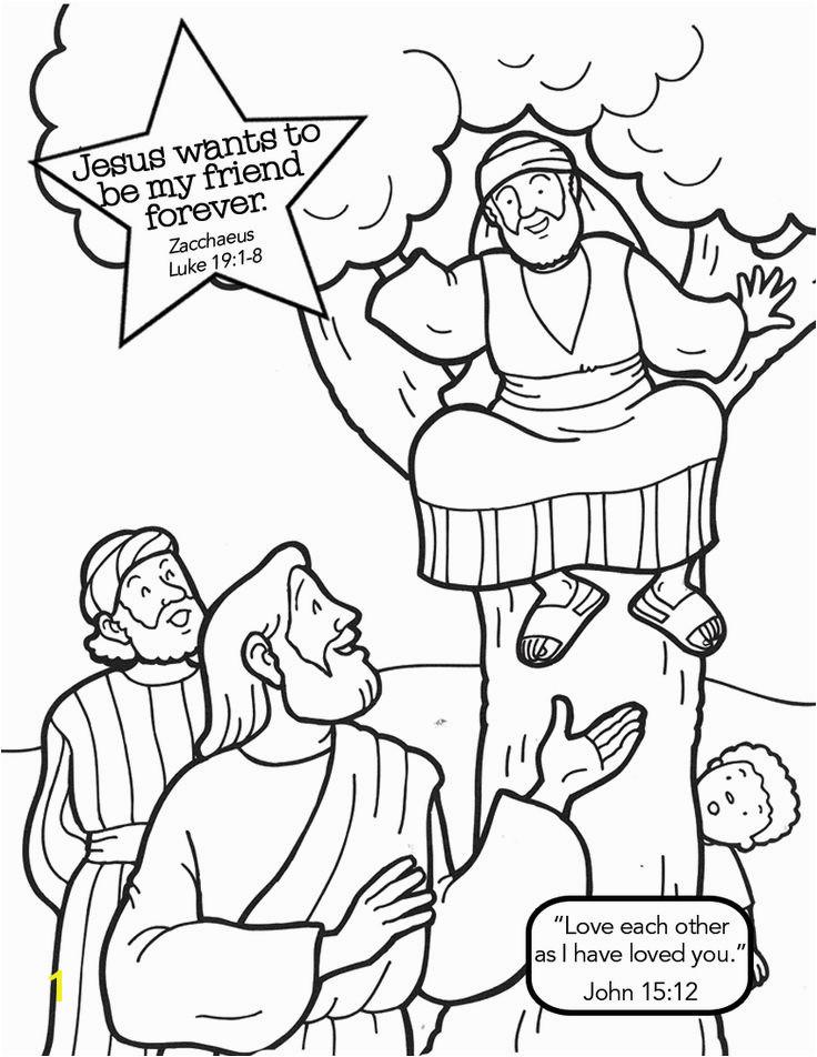 zacchaeus cut out coloring sketch templates
