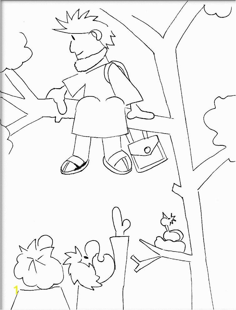 zaccheus coloring pages