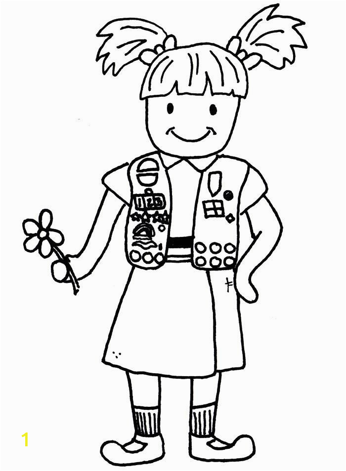 daisy girl scouts coloring pages free
