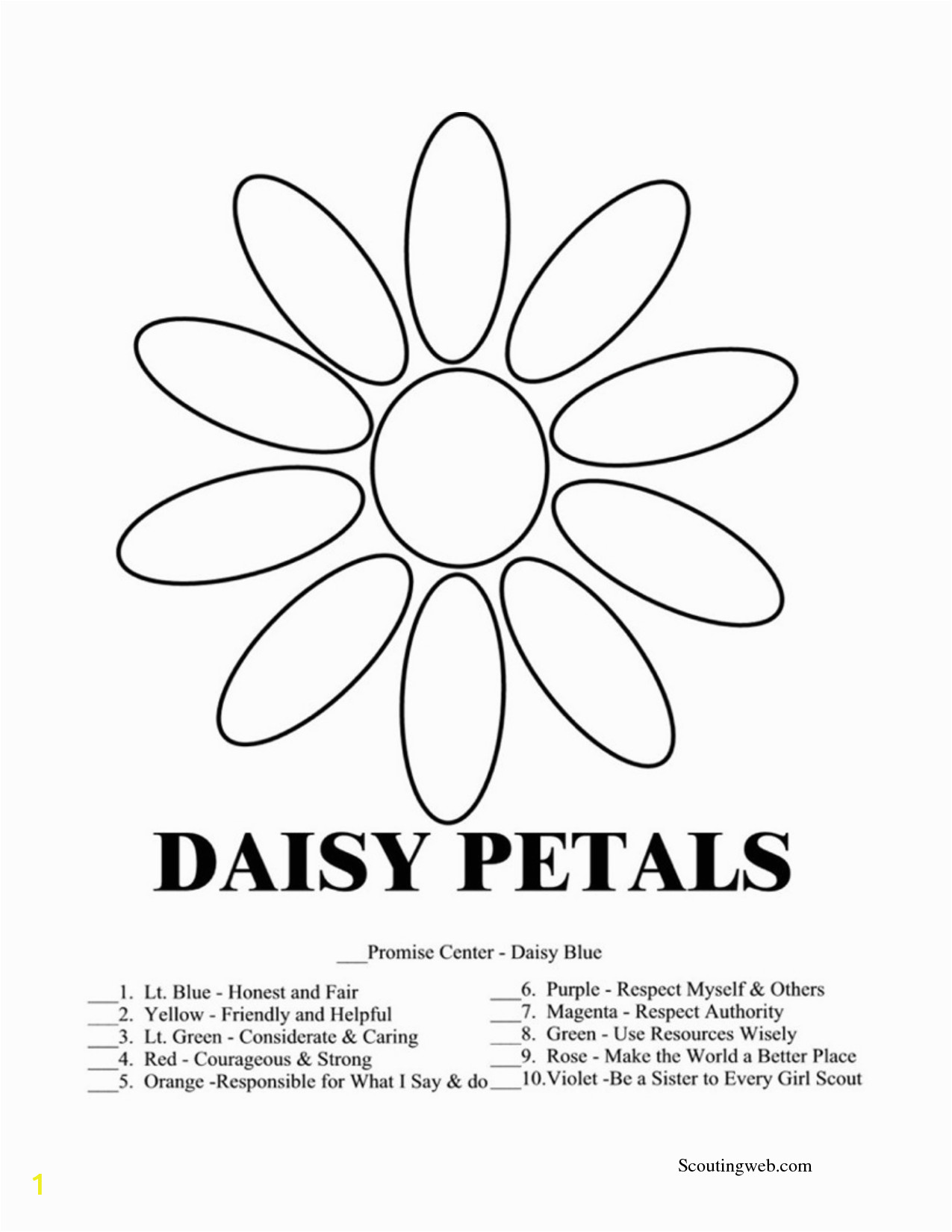 Free Printable Daisy Girl Scout Coloring Pages Daisy Girl Scouts Coloring Pages Timeless Miracle