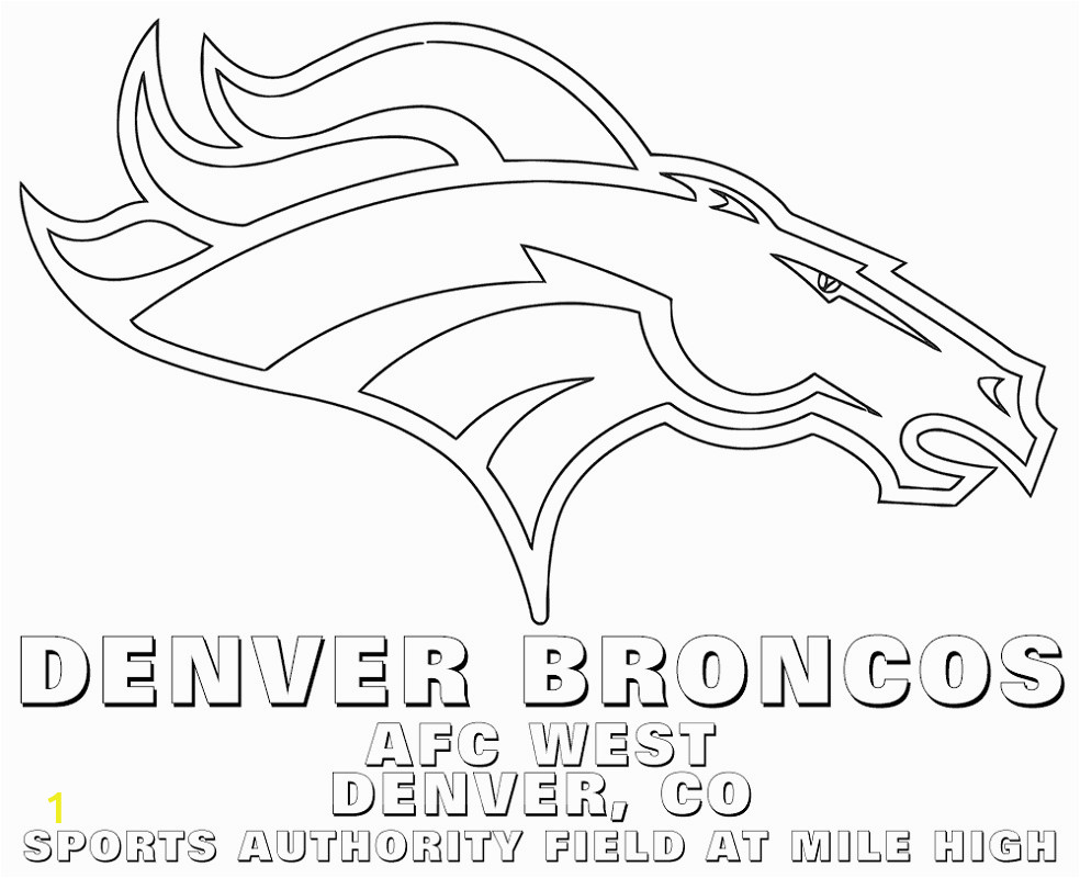 denver broncos coloring pages football free usage