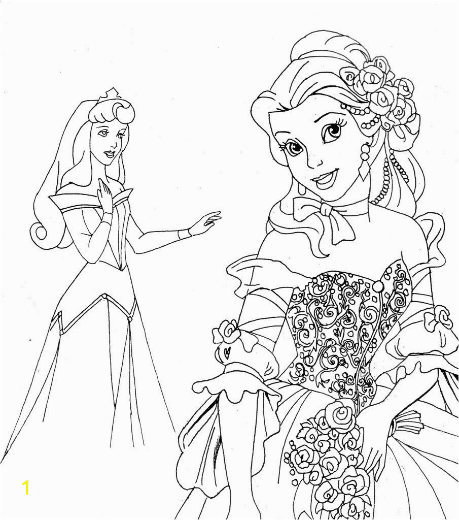 princess print out coloring pages
