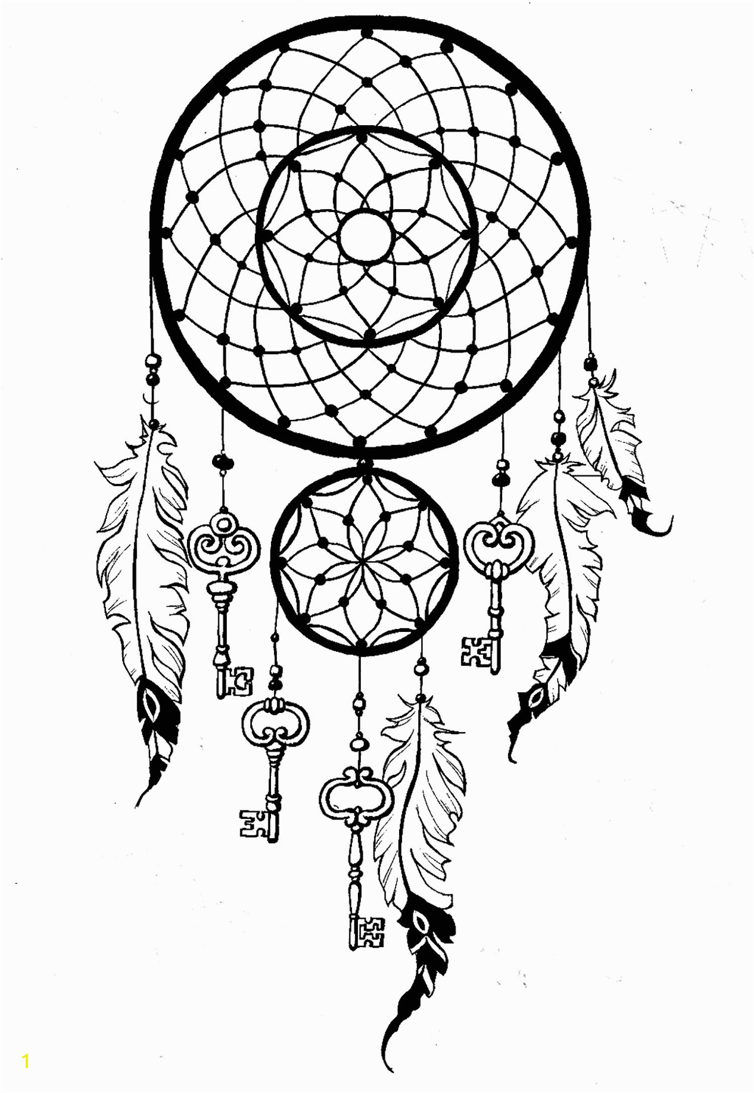 Free Printable Dream Catcher Coloring Pages Dreamcatcher Keys Dreamcatchers Adult Coloring Pages