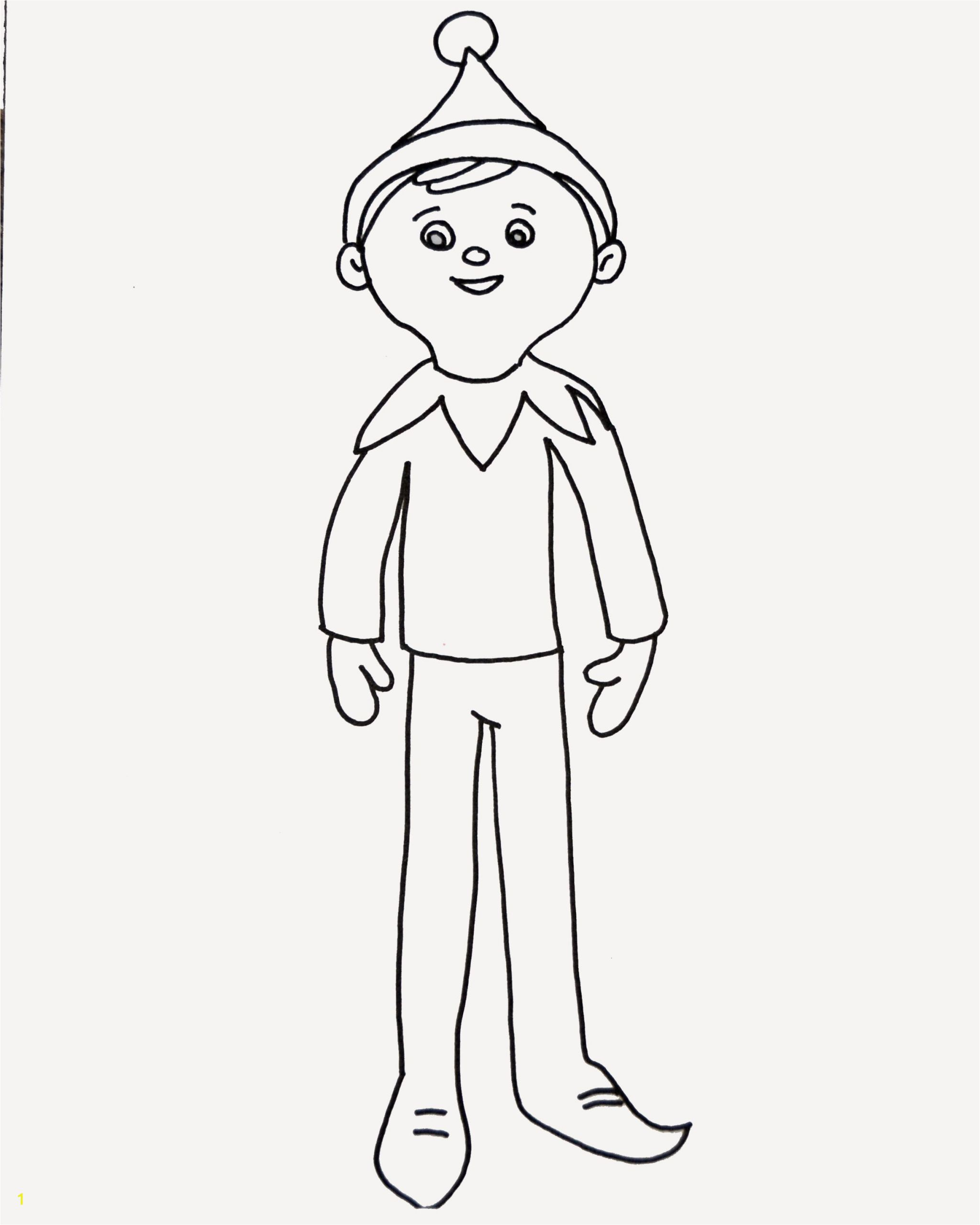 Free Printable Elf On the Shelf Coloring Pages Elf On the Shelf Coloring Page Elf On Shelf