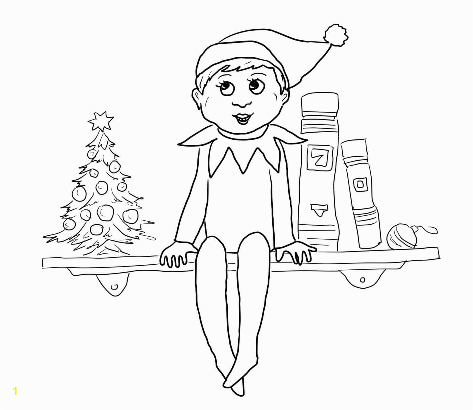 elf on the shelf printable coloring pages free