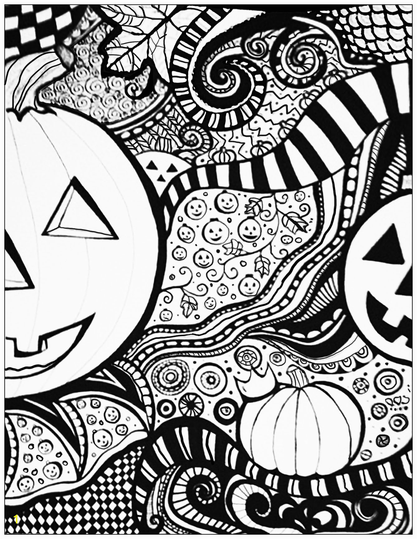 Free Printable Halloween Coloring Pages for Adults Halloween Sheet Halloween Adult Coloring Pages