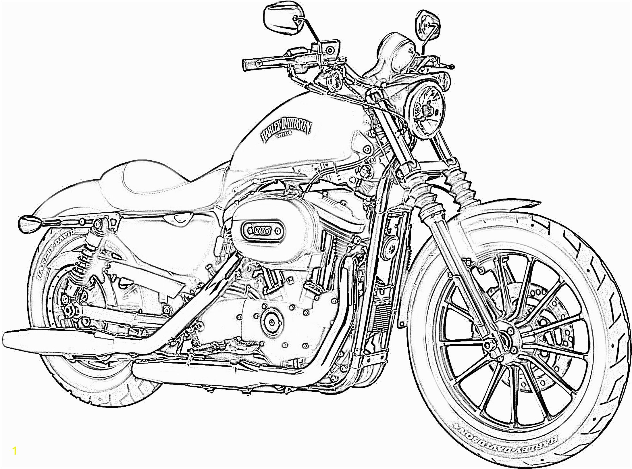free harley davidson coloring pages