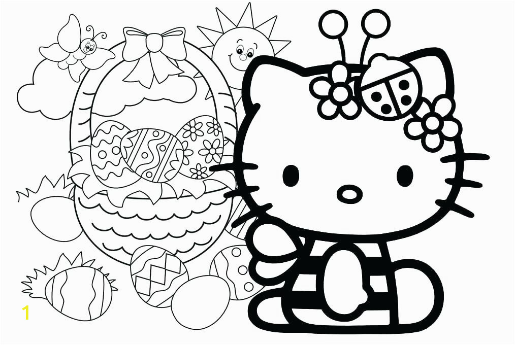 hello kitty christmas coloring pages free print