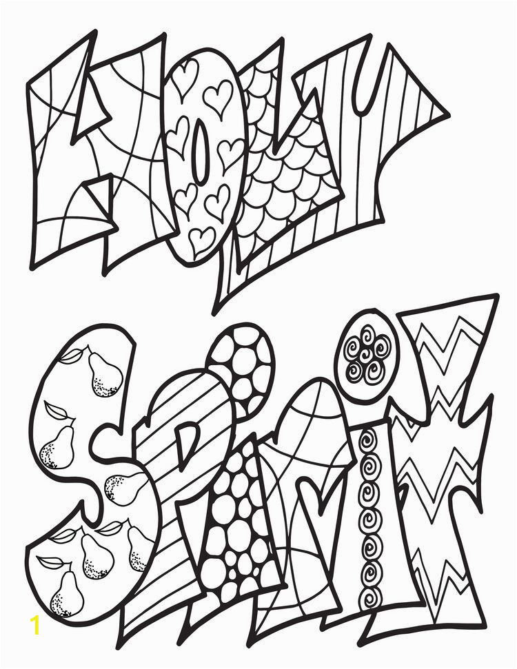 Free Printable Holy Spirit Coloring Pages Holy Spirit Classic Doodle Free Coloring Page