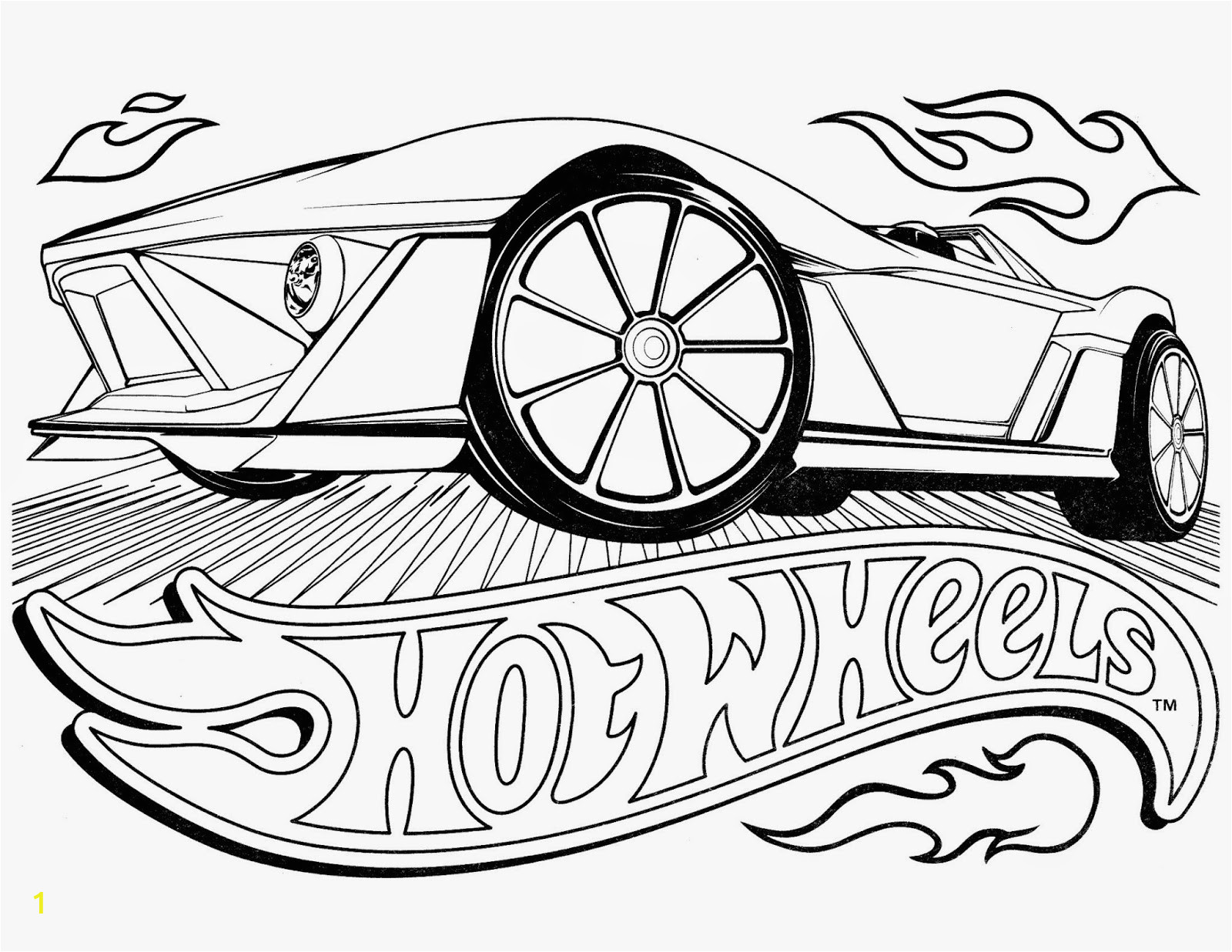 hot wheels coloring pages set 4