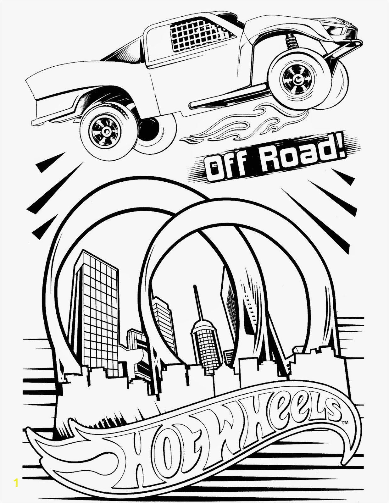 hot wheels coloring pages set 5