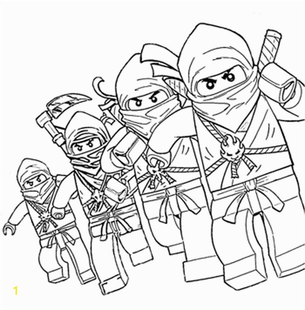 free printable lego ninjago coloring
