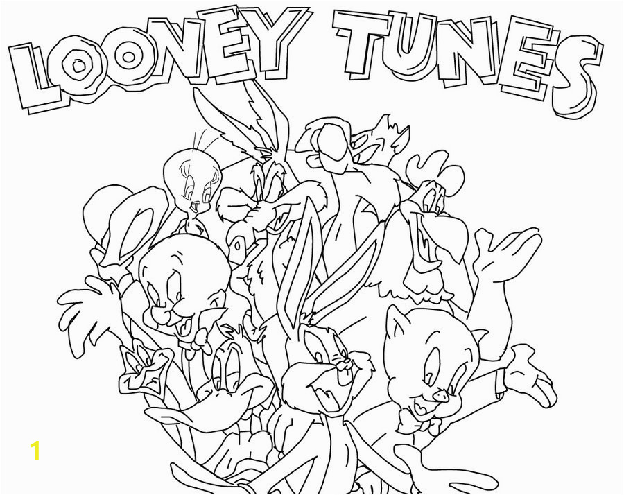 the lively show of looney tunes colouring pages