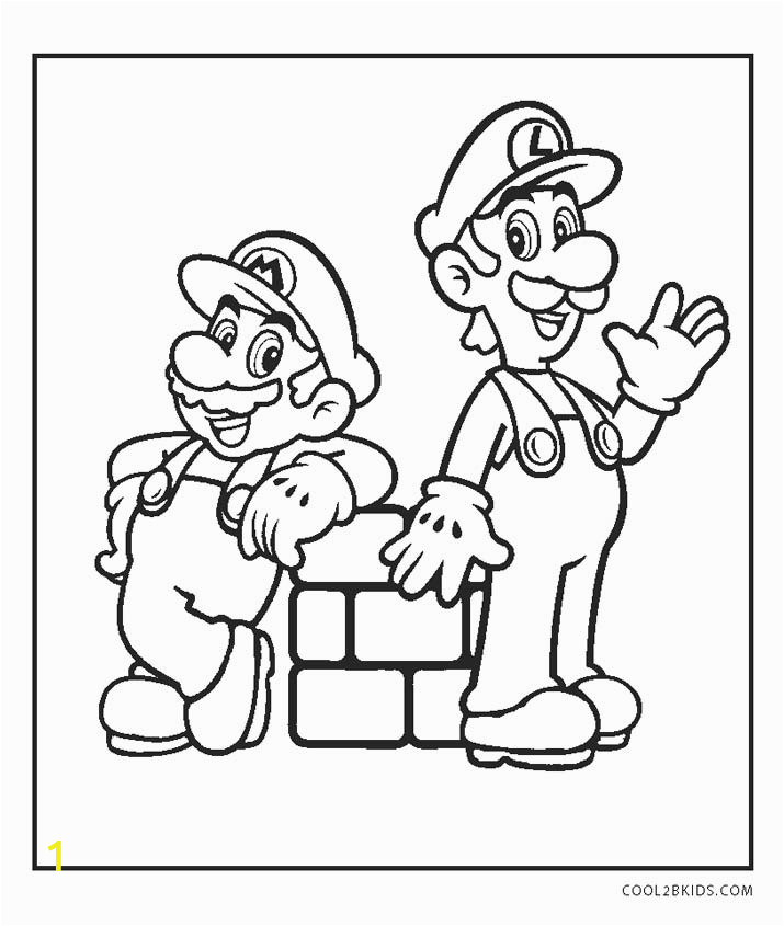mario and luigi coloring pages online