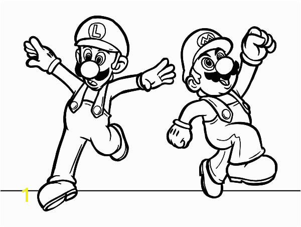 mario and luigi feeling excited coloring pages 2