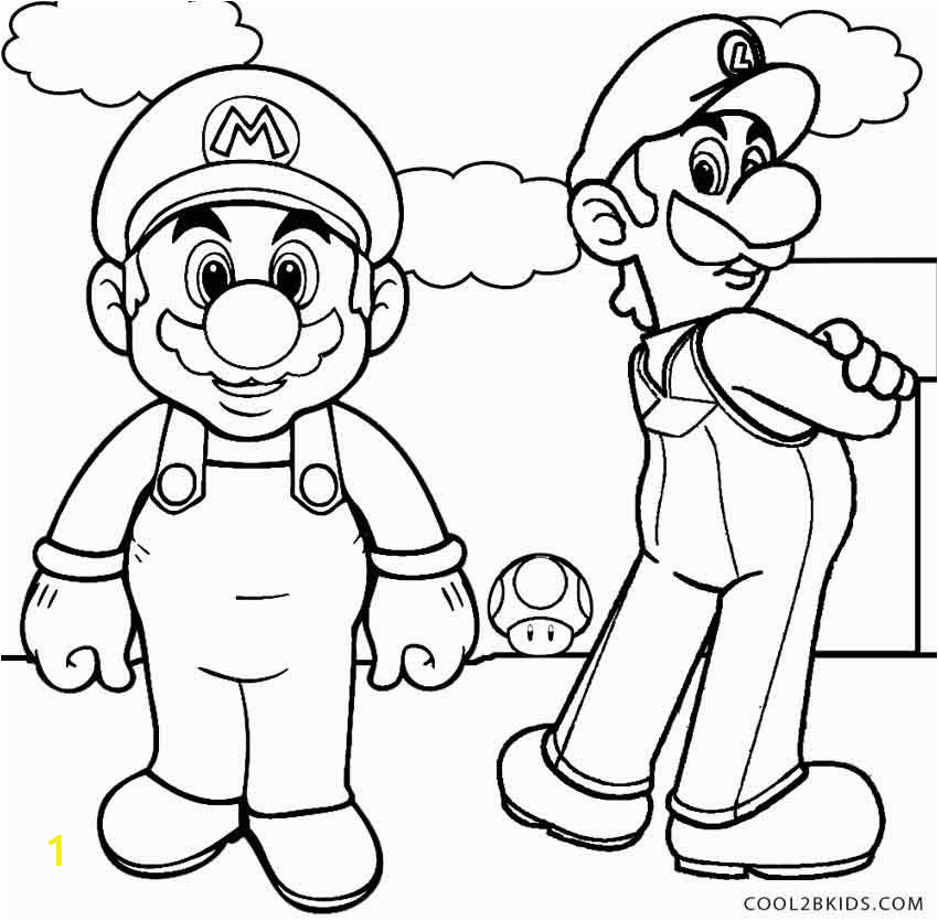 print mario and luigi coloring pages