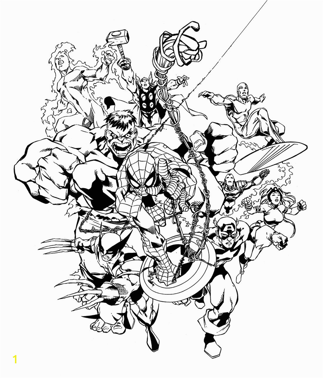 Free Printable Marvel Superhero Coloring Pages Marvel Heroes by Carlos Pacheco