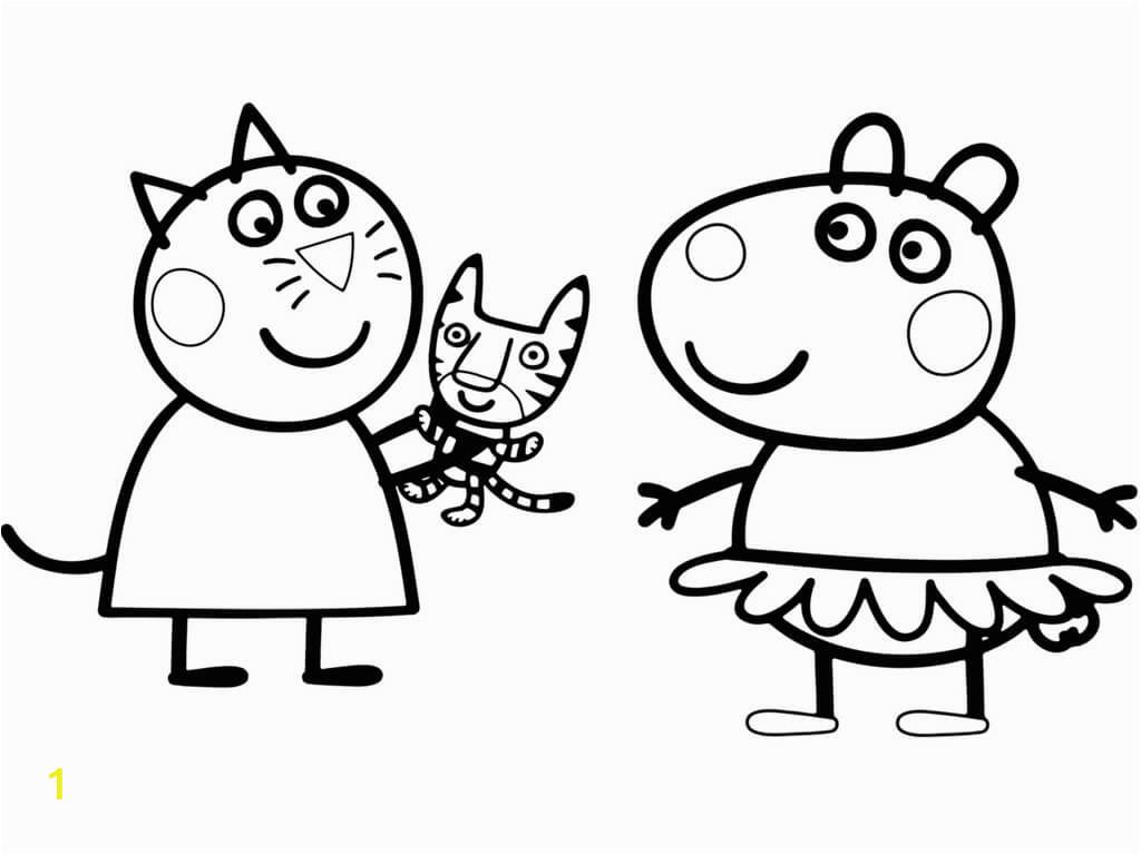 free printable peppa pig coloring pages