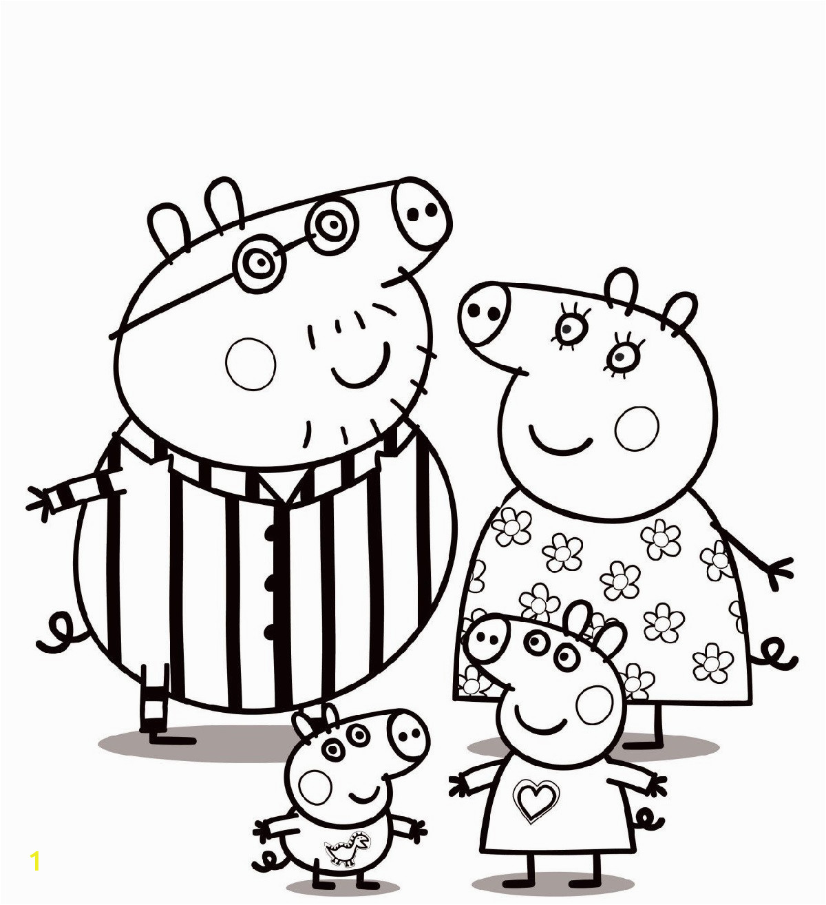 peppa pig coloring pages printable and free