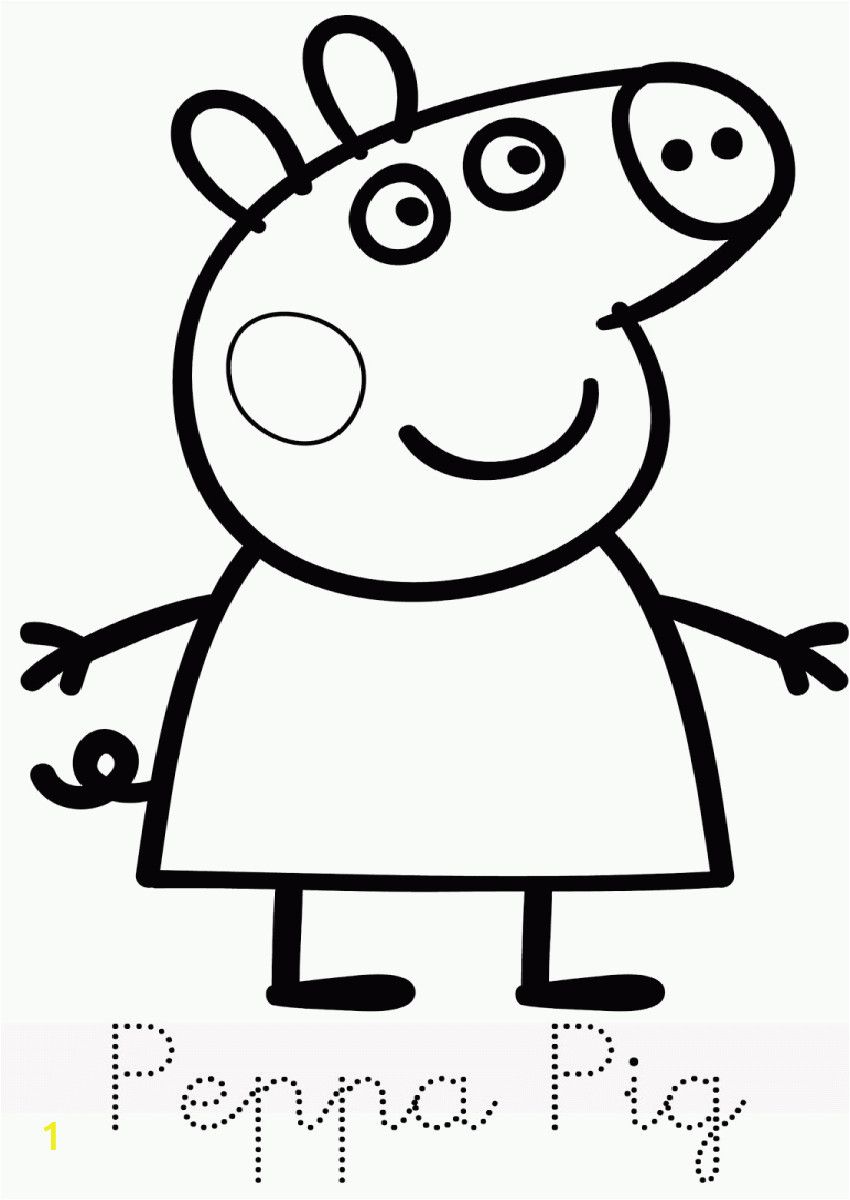 printable coloring pages peppa pig
